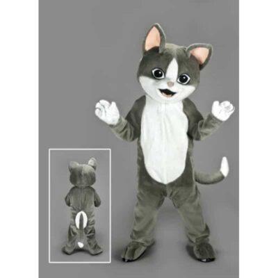 mascotte, deguisement, chat