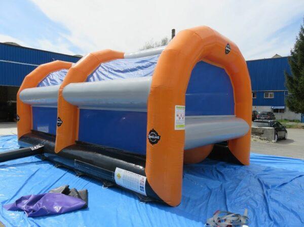 structure gonflable Obstacle pour course gonflable, piscine à boules géantes. Fabrication européenne - Lukylud.
