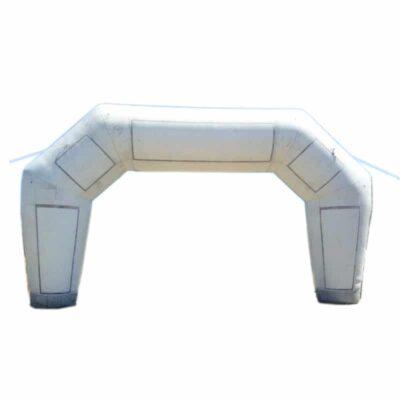 arche publicitaire gonflable blanche de grande taille, occasion état moyen, petit prix.