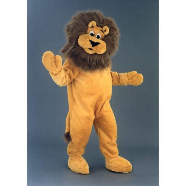 déguisement mascotte lion en peluche, fabrication française haute qualité