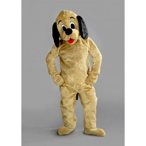 mascotte chien beige