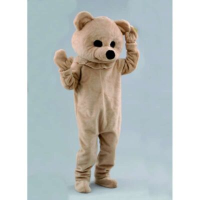 mascotte ours beige