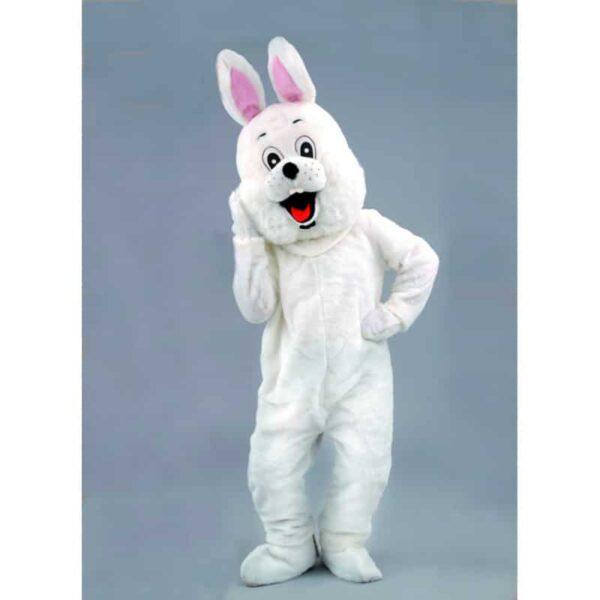 mascotte petit lapin blanc