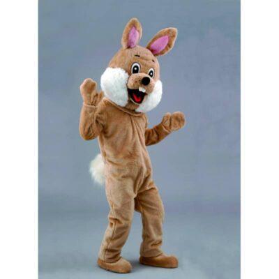 mascotte petit lapin brun