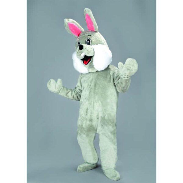 mascotte petit lapin gris