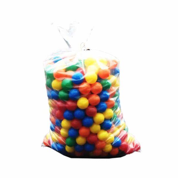 Sac de 500 boules 75mm multicolores pour piscine a balles.