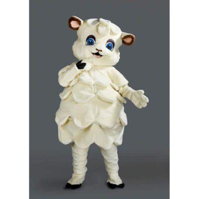 Mascotte ou costume peluche mouton blanc. Déguisement en peluche de haute qualité. Fabriqué en France
