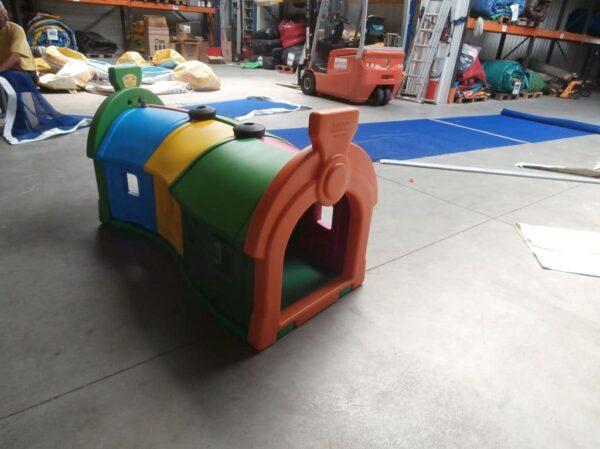 Train de 3 wagons, jeu d'occasion état neuf, modèle d'exposition. Fabrication européenne, CE, plastique de qualité - Lukylud.