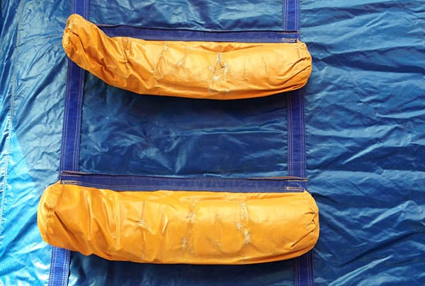 réparation bâche toboggan gonflable