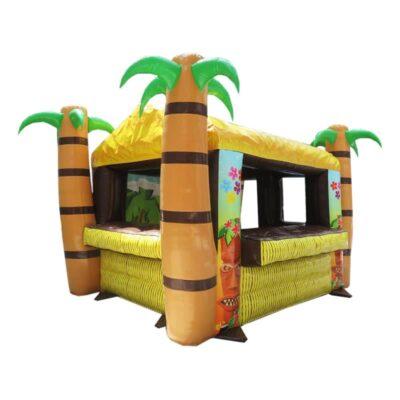 Structure gonflable, buvette gonflable Tiki décoré plage, fabrication européenne - Lukylud