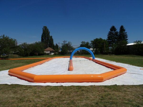 Structure gonflable sport, grand circuit karting 30 x 10 m en diametre 0,70m. Fabrication européenne - Lukylud.