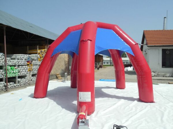 Structure gonflable, stand gonflable ouvert 6x6m, fabrication européenne - Lukylud