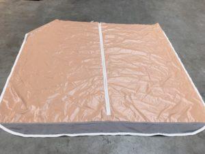 Bâche PVC pour bungalow toilé ou mobil home dans les campings