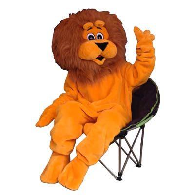 Vente structures gonflables et costume peluche mascotte lion.
