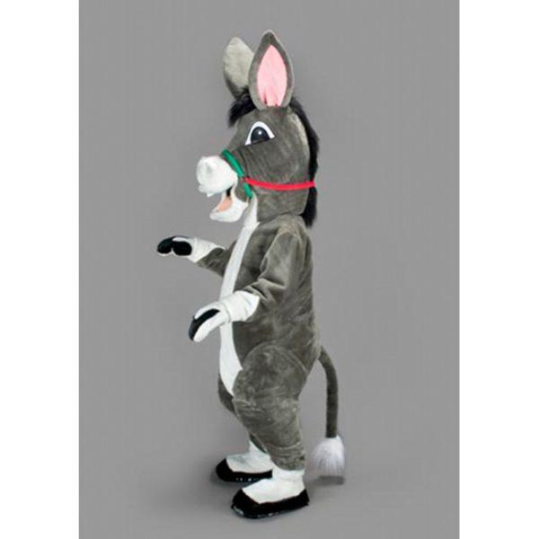 Costume peluche de qualité ou mascotte pour se déguiser en âne cabré.