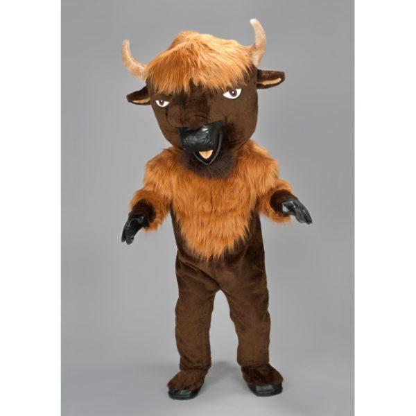 Costume peluche de qualité ou mascotte pour se déguiser en bison.