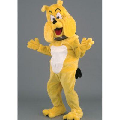 Costume peluche de qualité ou mascotte pour se déguiser en bouledogue.