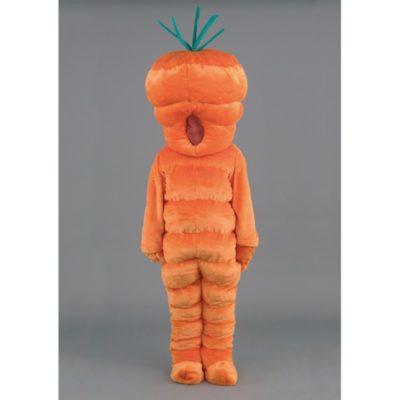 Costume peluche de qualité ou mascotte pour se déguiser en carotte.