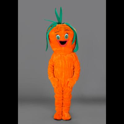Costume peluche de qualité ou mascotte pour se déguiser en carotte crue.