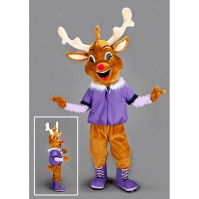 Costume peluche de qualité ou mascotte pour se déguiser en cerf.