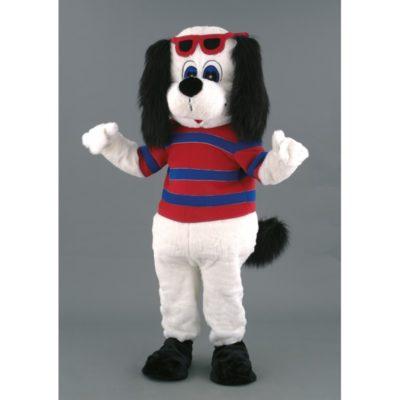 Costume peluche de qualité ou mascotte pour se déguiser en chien vacancier.