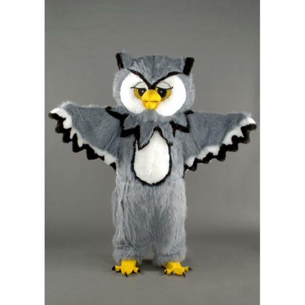 Costume peluche de qualité ou mascotte pour se déguiser en chouette.