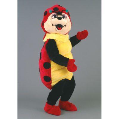 Costume peluche de qualité ou mascotte pour se déguiser en coccinelle.