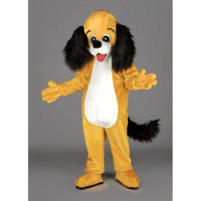 Costume peluche de qualité ou mascotte pour se déguiser en chien cocker.