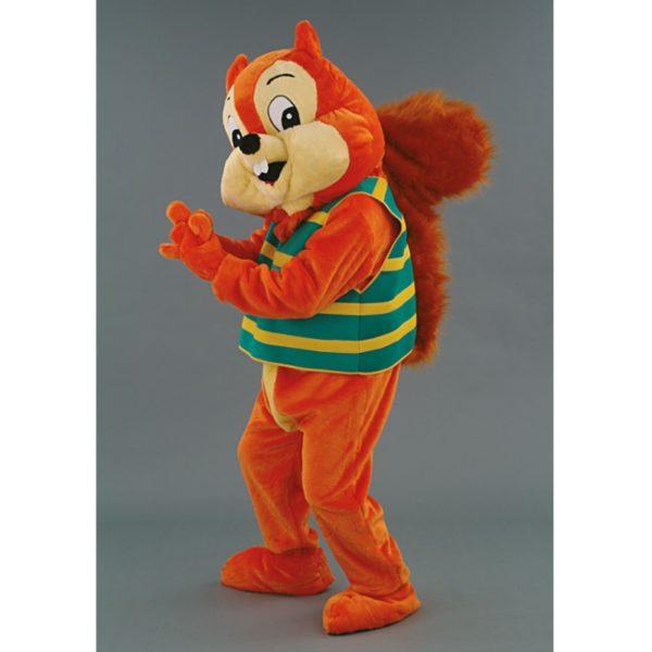 Costume peluche de qualité ou mascotte pour se déguiser en écureuil roux.