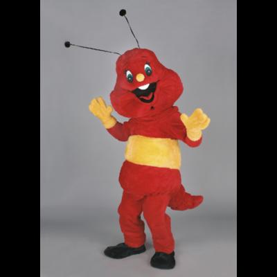 Costume peluche de qualité ou mascotte pour se déguiser en fourmi rouge.