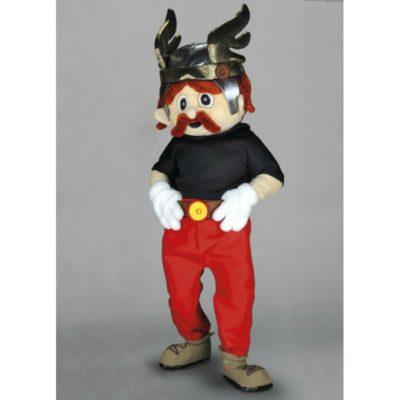 Costume peluche de qualité ou mascotte pour se déguiser en personnage gaulois.