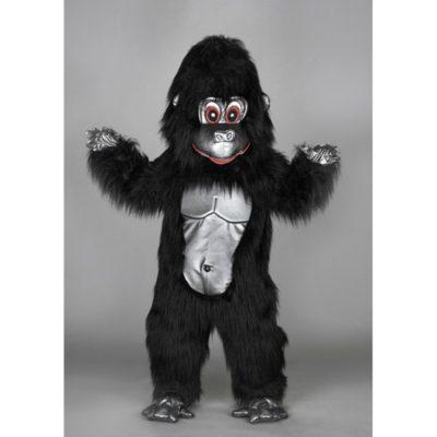 Costume peluche de qualité ou mascotte pour se déguiser en gorille noir.