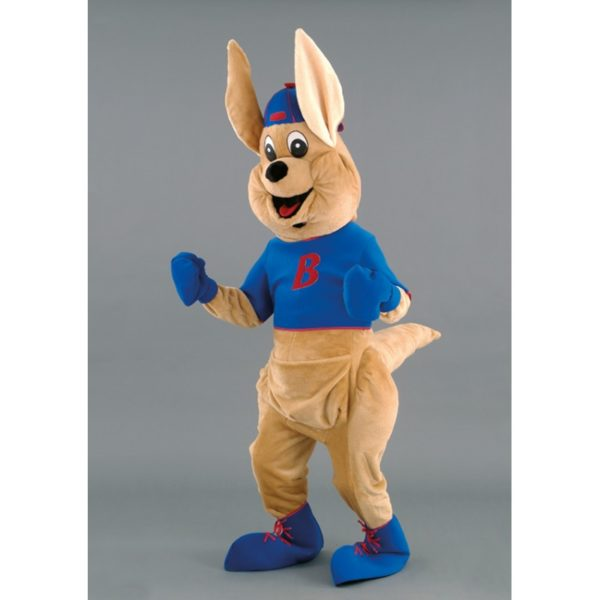 Costume peluche de qualité ou mascotte pour se déguiser en kangourou.