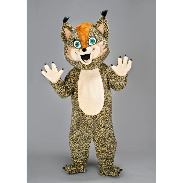 Costume peluche de qualité ou mascotte pour se déguiser en lynx.