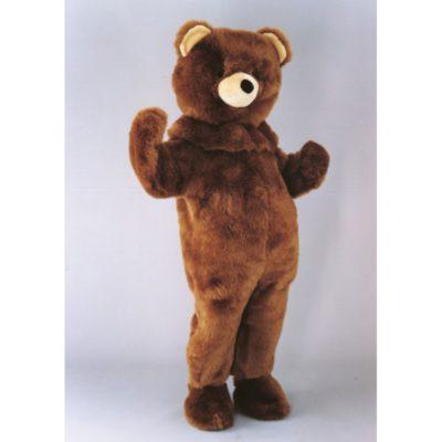 Costume peluche de qualité ou mascotte pour se déguiser en ours brun.