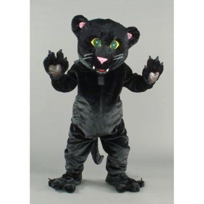 Costume peluche de qualité ou mascotte pour se déguiser en panthère noire.
