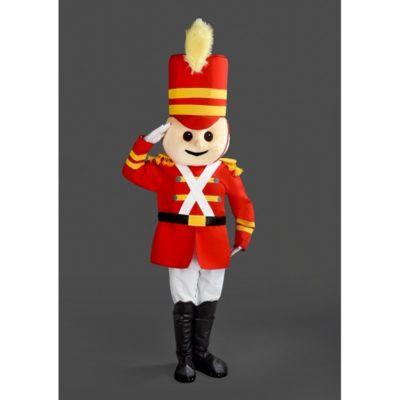 Costume peluche de qualité ou mascotte pour se déguiser en personnage soldat de plom.