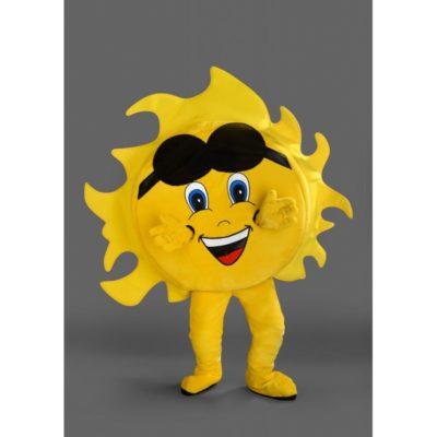 Costume peluche de qualité ou mascotte pour se déguiser en soleil.