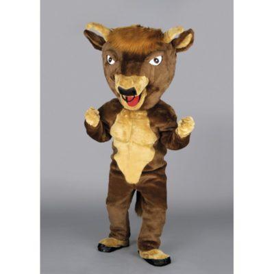 Costume peluche de qualité ou mascotte pour se déguiser en taureau.