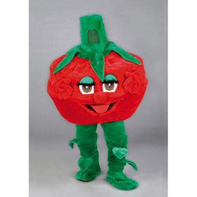Costume peluche de qualité ou mascotte pour se déguiser en tomate.