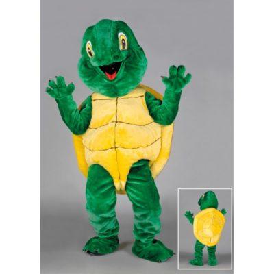 Costume peluche de qualité ou mascotte pour se déguiser en tortue.