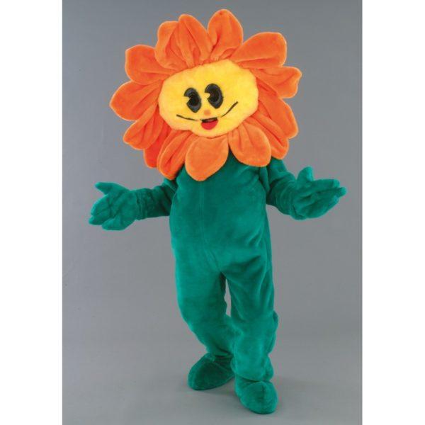 Costume peluche de qualité ou mascotte pour se déguiser en tournesol.