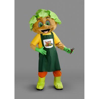 Costume peluche de qualité ou mascotte pour se déguiser en personnage mr bio.