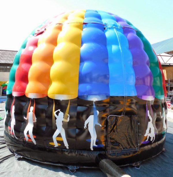 Château gonflable disco avec sono