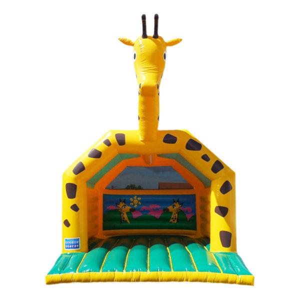 Château gonflable girafe pas cher avec bâche de toit