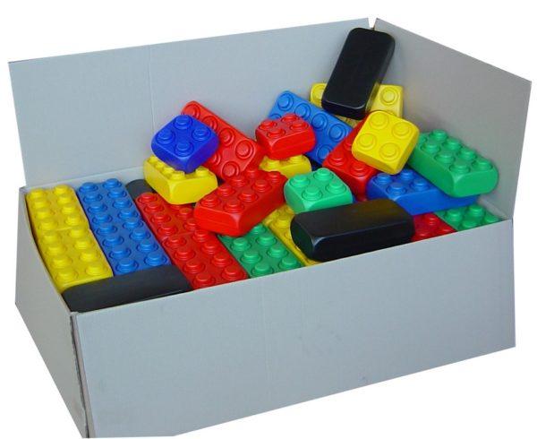 Blocs de construction géants en carton de 106 blocs