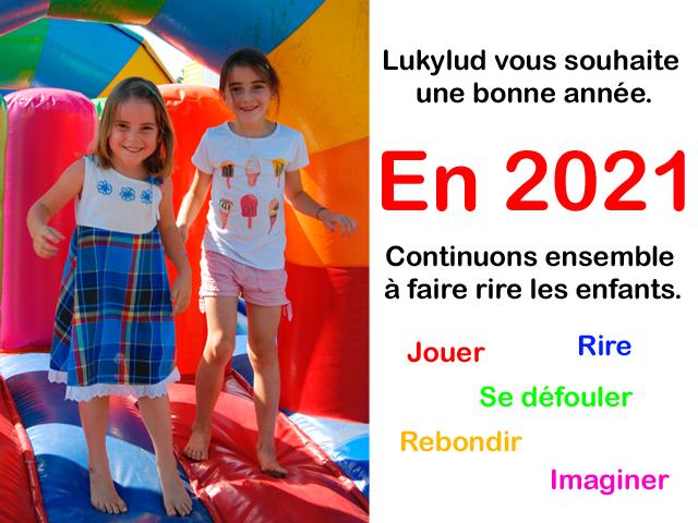 Lukylud vous souhaite une bonne année 2021