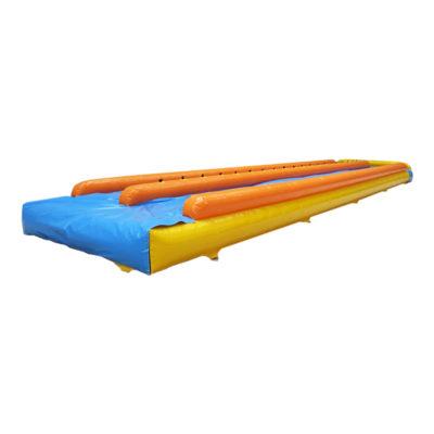 Ventriglisse gonflable double piste avec bâche de glisse
