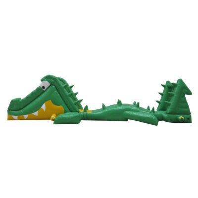 Parcours aquatique gonflable croc challenge
