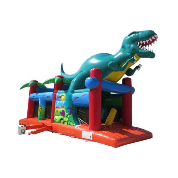 Parcours gonflable dino